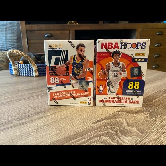 1x NBA Hoops and 1x Don Russ blaster box